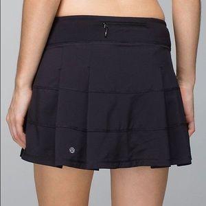 Lululemon Black Pace Rival Activewear Skirt